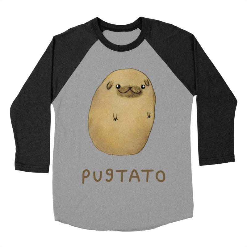 Pugtato Men's Baseball Triblend T-Shirt by Sophie Corrigan's Artist Shop