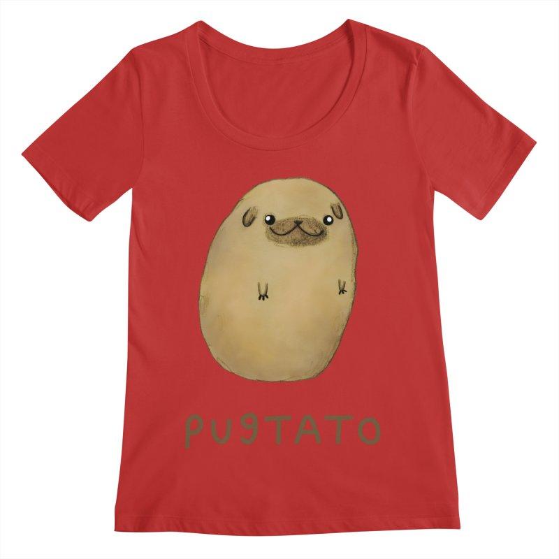 Pugtato Women's Regular Scoop Neck by Sophie Corrigan's Artist Shop