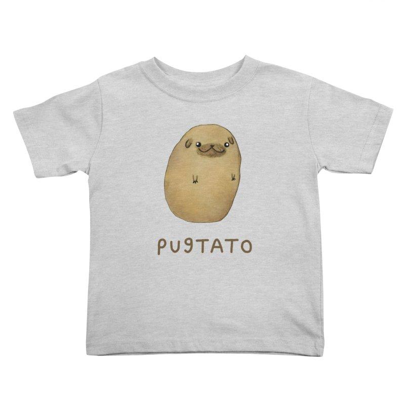 Pugtato Kids Toddler T-Shirt by Sophie Corrigan's Artist Shop