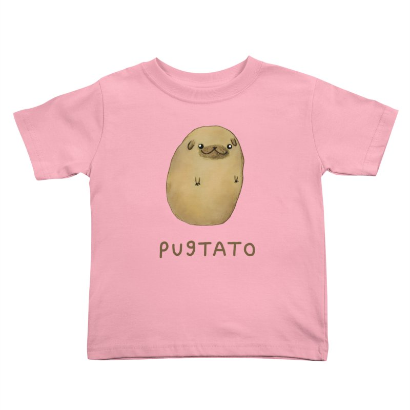 Pugtato Kids Toddler T-Shirt by Sophie Corrigan's Artist Shop