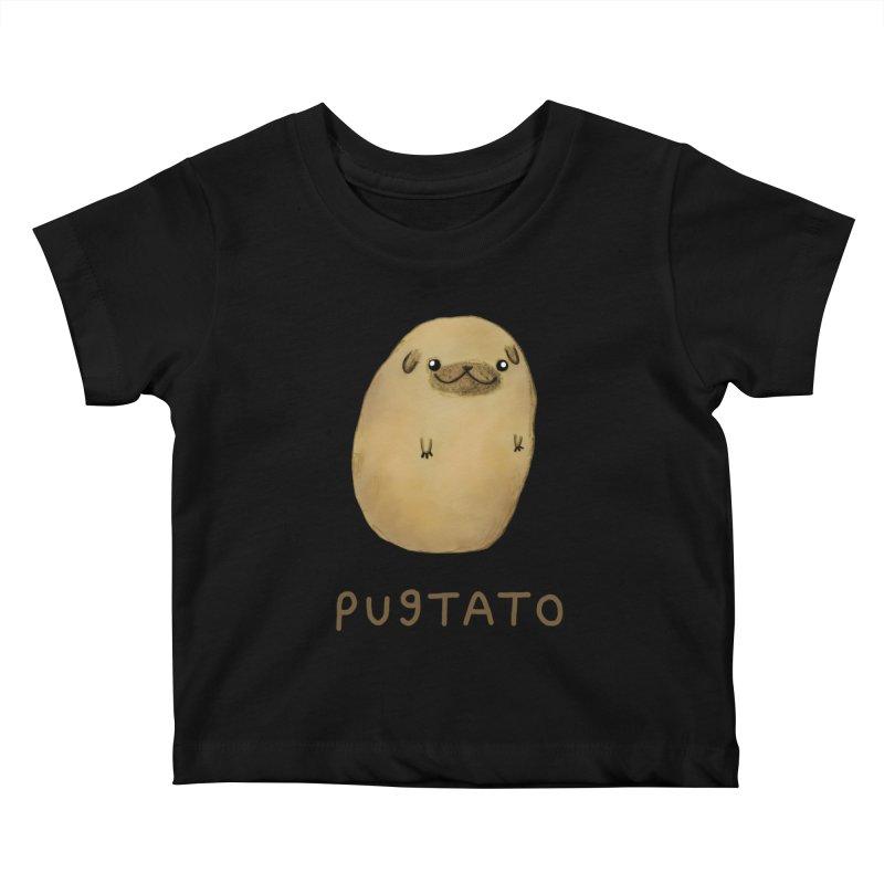 Pugtato Kids Baby T-Shirt by Sophie Corrigan's Artist Shop