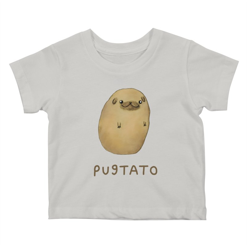 Pugtato Kids Baby T-Shirt by Sophie Corrigan's Artist Shop