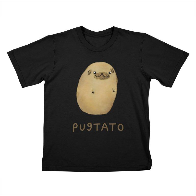 Pugtato Kids T-Shirt by Sophie Corrigan's Artist Shop