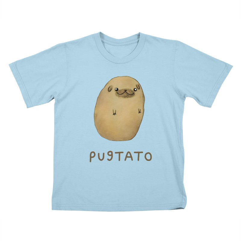 Pugtato Kids T-Shirt by Sophie Corrigan's Artist Shop