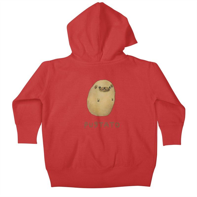 Pugtato Kids Baby Zip-Up Hoody by Sophie Corrigan's Artist Shop
