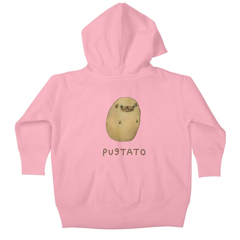 Pugtato Kids Baby Zip-Up Hoody by Sophie Corrigan's Artist Shop