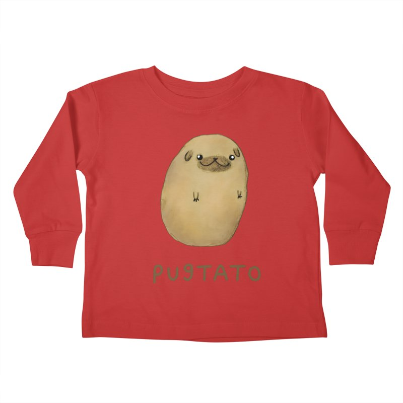 Pugtato Kids Toddler Longsleeve T-Shirt by Sophie Corrigan's Artist Shop