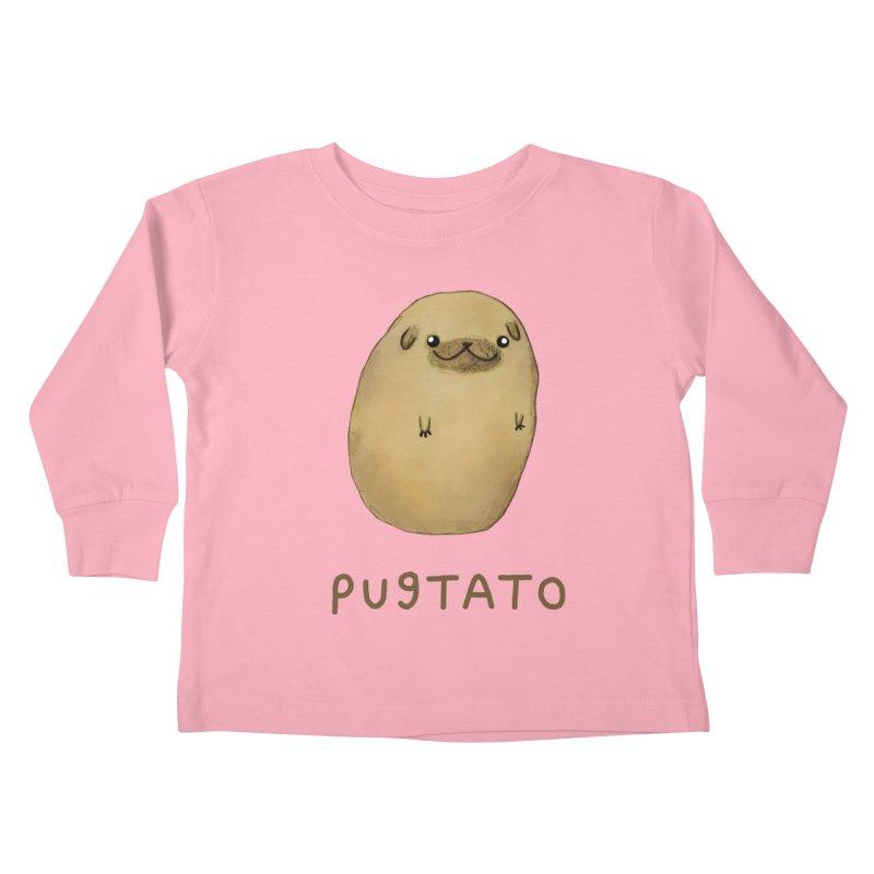 Pugtato Kids Toddler Longsleeve T-Shirt by Sophie Corrigan's Artist Shop