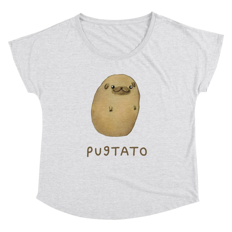 Pugtato Women's Dolman Scoop Neck by Sophie Corrigan's Artist Shop