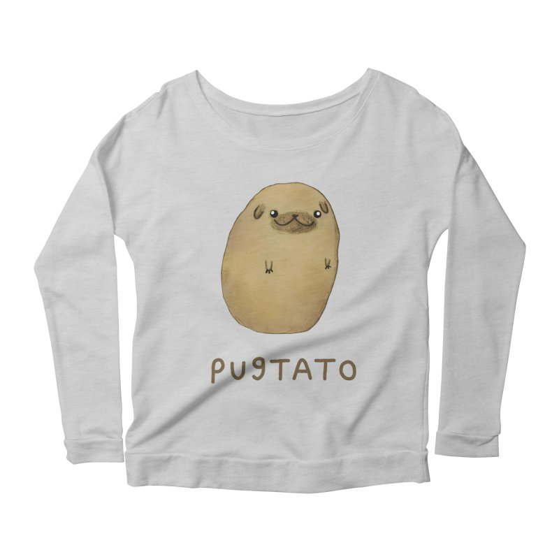 Pugtato Women's Scoop Neck Longsleeve T-Shirt by Sophie Corrigan's Artist Shop