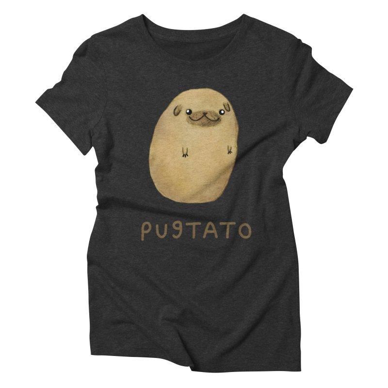 Pugtato Women's Triblend T-Shirt by Sophie Corrigan's Artist Shop