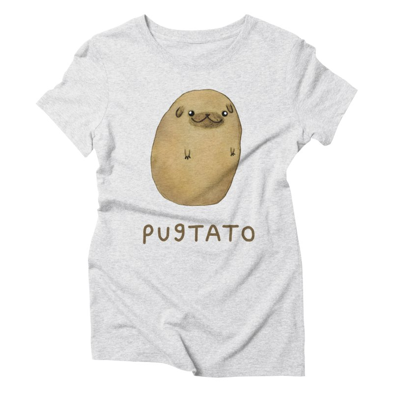 Pugtato Women's Triblend T-Shirt by Sophie Corrigan's Artist Shop
