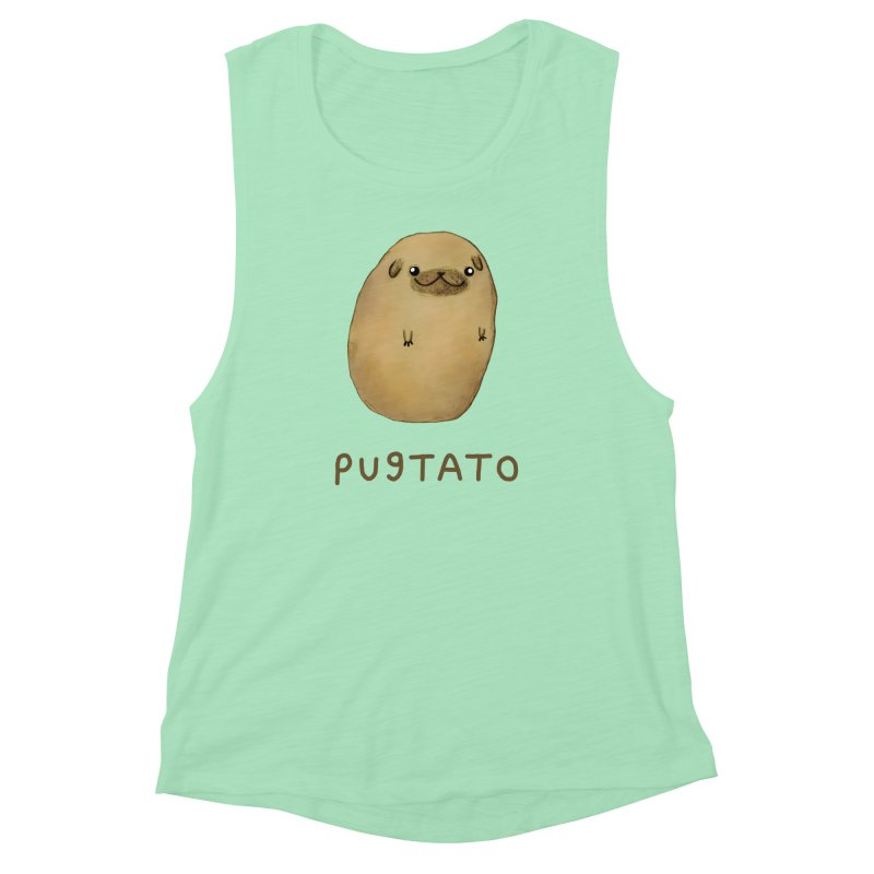 Pugtato Women's Muscle Tank by Sophie Corrigan's Artist Shop