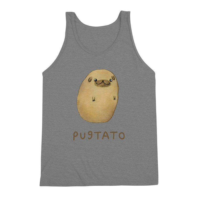 Pugtato Men's Triblend Tank by Sophie Corrigan's Artist Shop