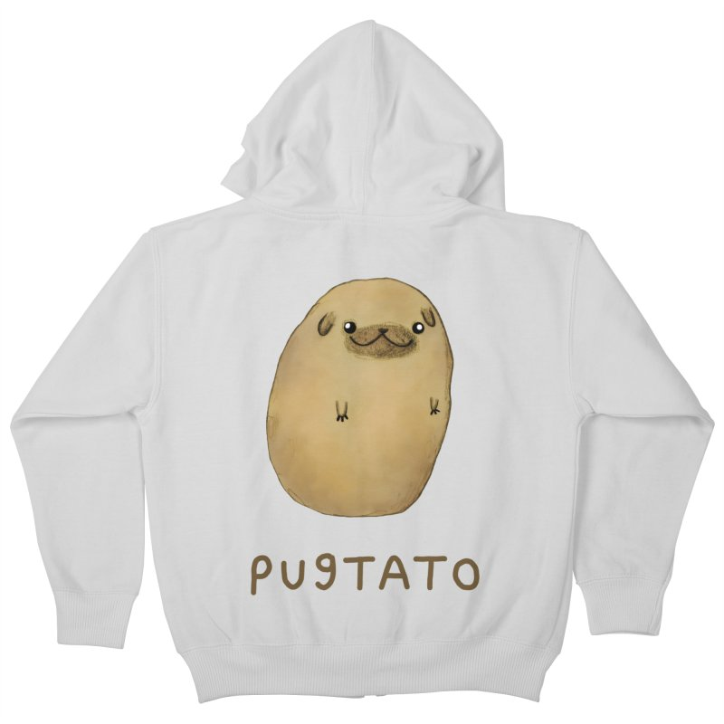 Pugtato Kids Zip-Up Hoody by Sophie Corrigan's Artist Shop