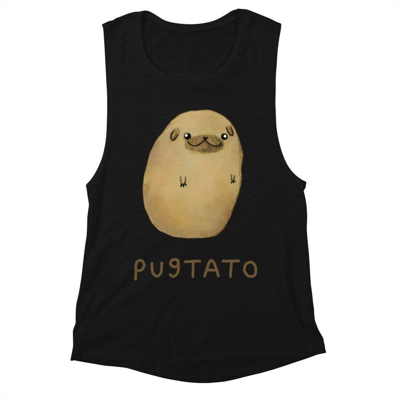 Pugtato Women's Muscle Tank by Sophie Corrigan's Artist Shop