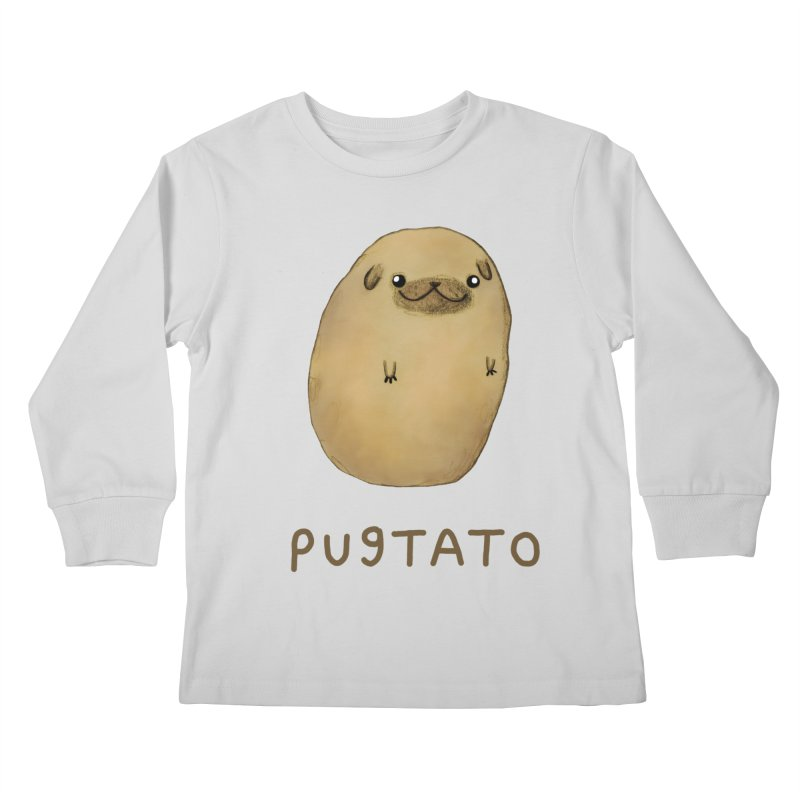 Pugtato Kids Longsleeve T-Shirt by Sophie Corrigan's Artist Shop
