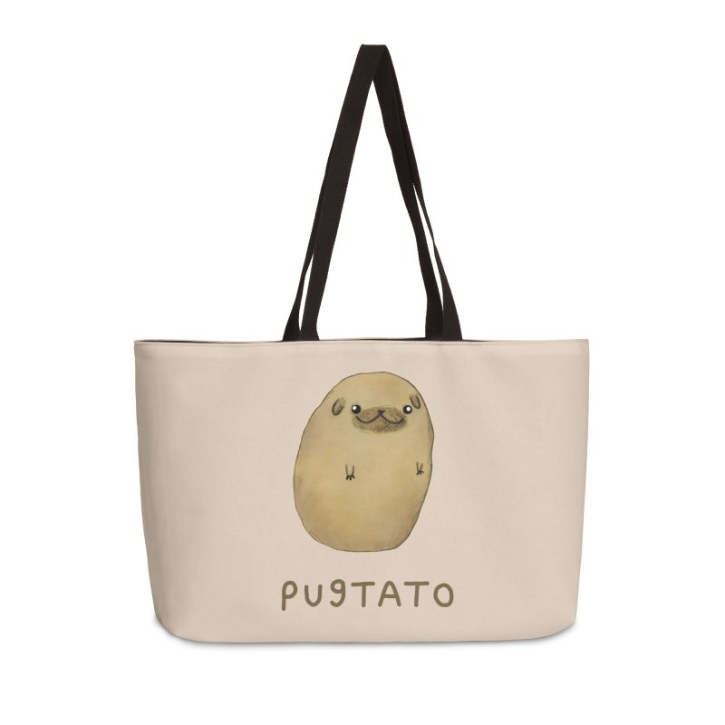 Pugtato Accessories Weekender Bag Bag by Sophie Corrigan's Artist Shop