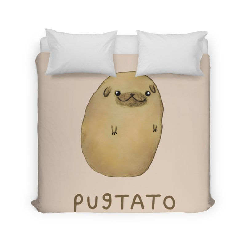 Pugtato Home Duvet by Sophie Corrigan's Artist Shop