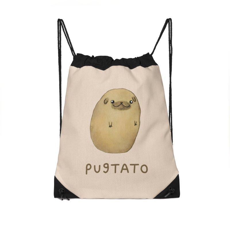 Pugtato Accessories Drawstring Bag Bag by Sophie Corrigan's Artist Shop