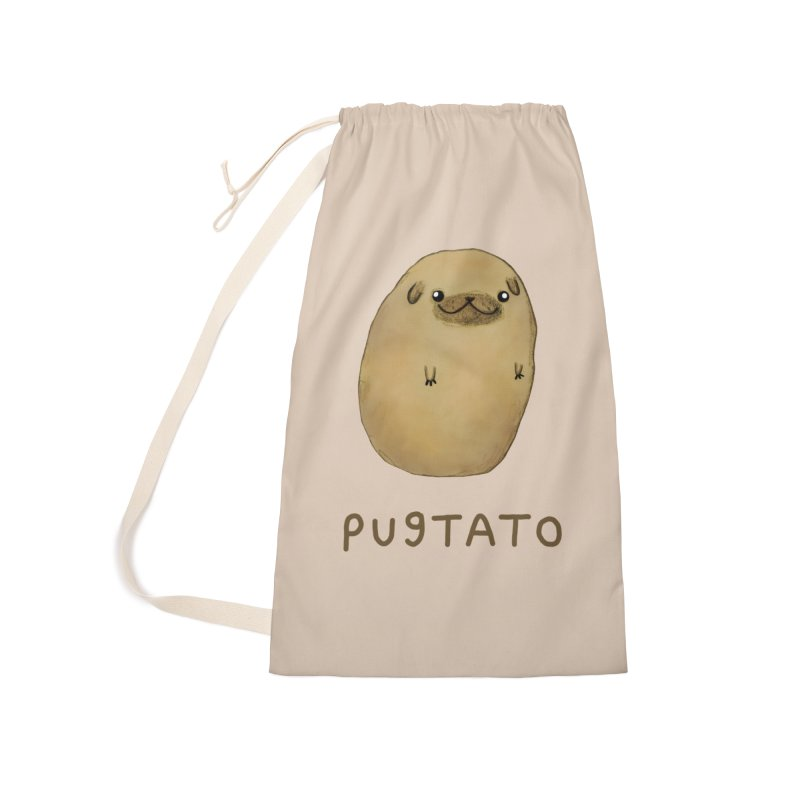 Pugtato Accessories Laundry Bag Bag by Sophie Corrigan's Artist Shop