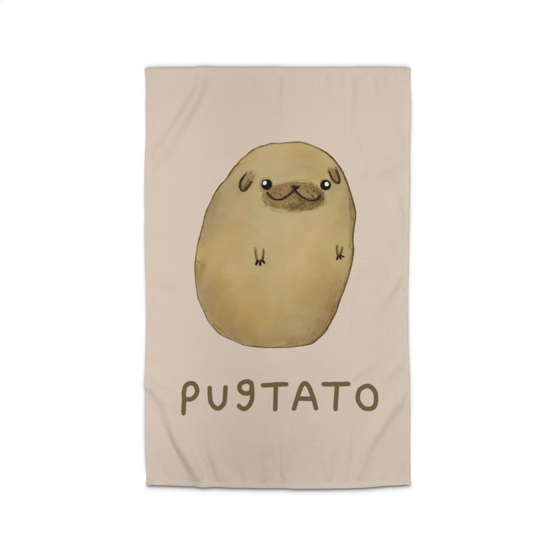 Pugtato Home Rug by Sophie Corrigan's Artist Shop
