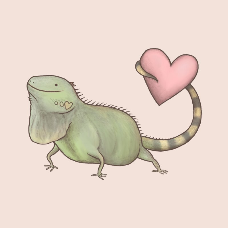 Iguana Love You Home Mounted Aluminum Print by Sophie Corrigan Shop