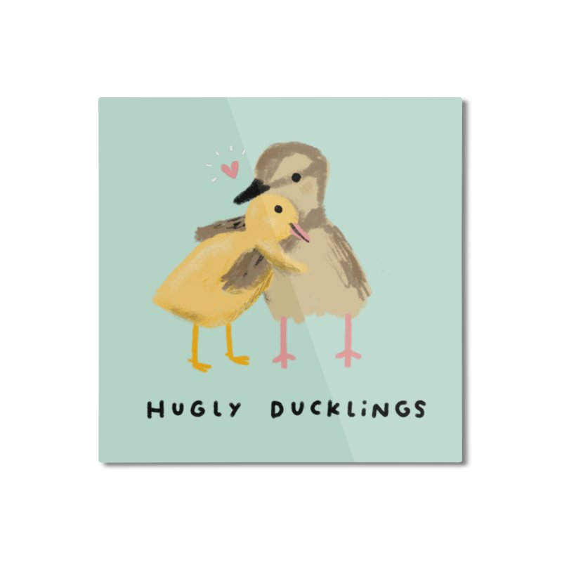 Hugly Ducklings Home Mounted Aluminum Print by Sophie Corrigan Shop