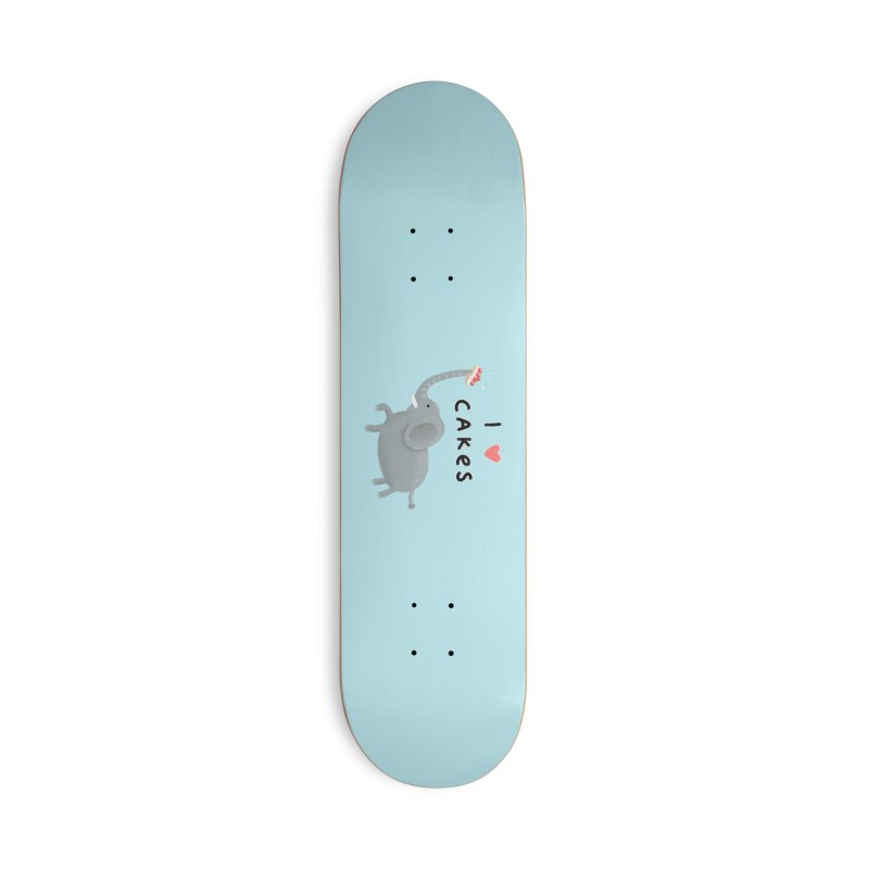 Elephant Loves Cakes Accessories Skateboard by Sophie Corrigan Shop