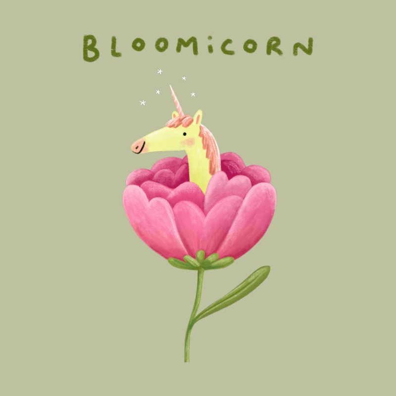 Bloomicorn Men's Sweatshirt by Sophie Corrigan Shop