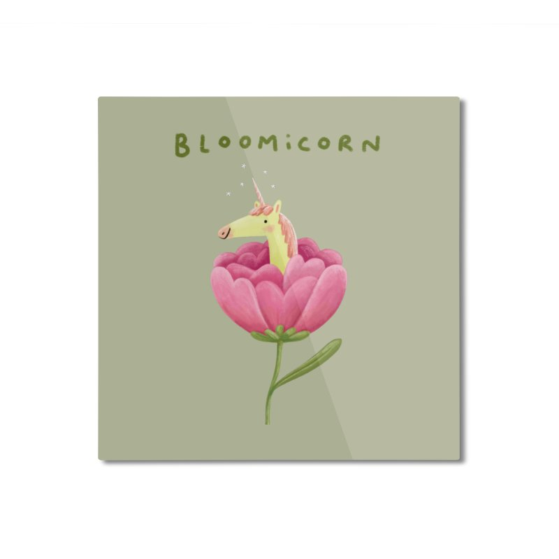 Bloomicorn Home Mounted Aluminum Print by Sophie Corrigan Shop