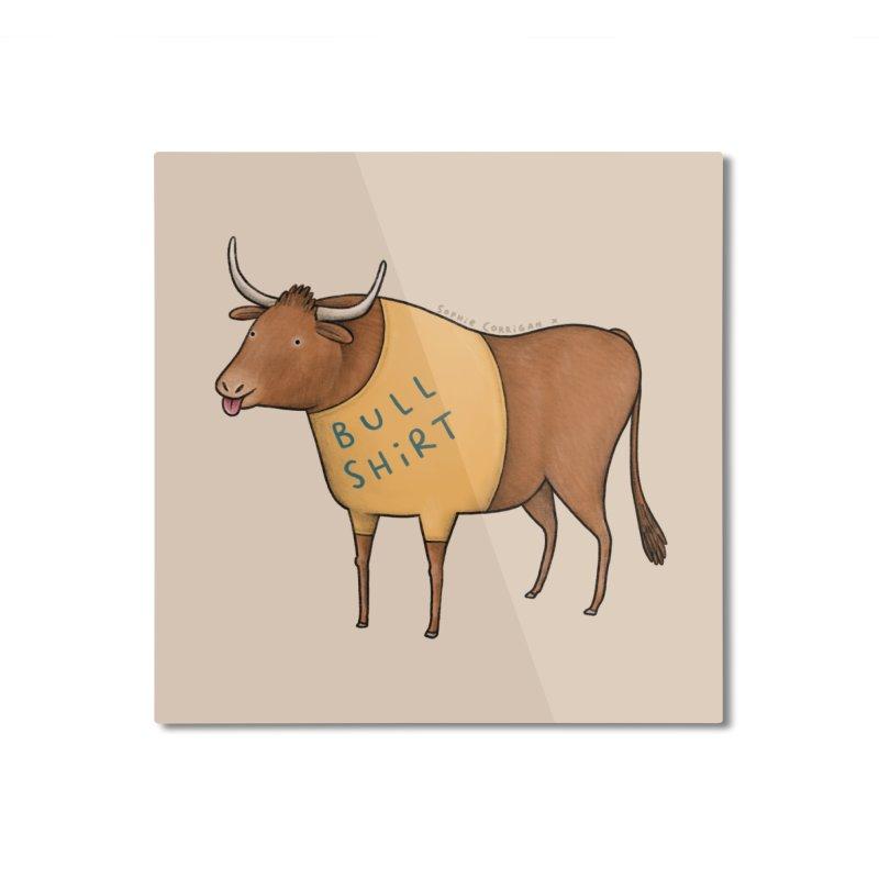 Bull Shirt Home Mounted Aluminum Print by Sophie Corrigan Shop
