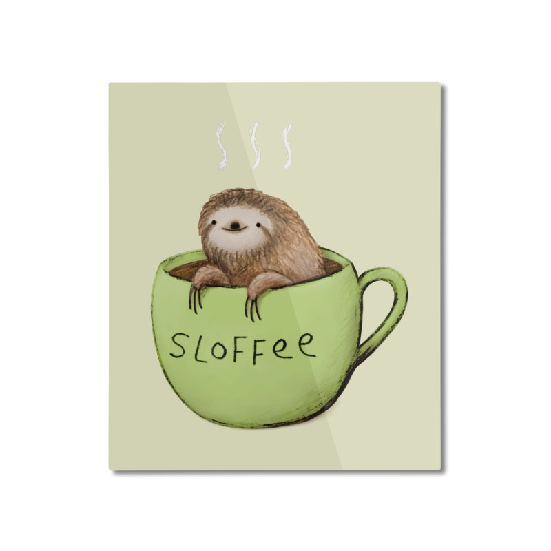 Sloffee Home Mounted Aluminum Print by Sophie Corrigan Shop