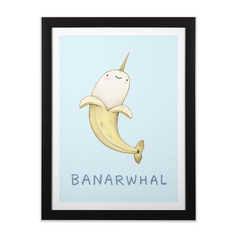 Banarwhal Home Framed Fine Art Print by Sophie Corrigan Shop