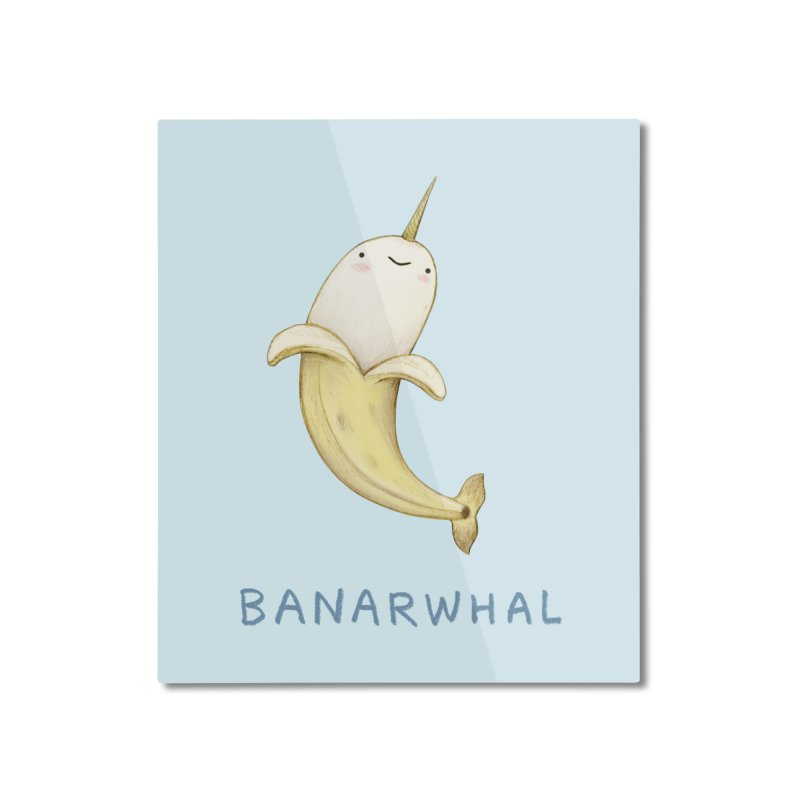 Banarwhal Home Mounted Aluminum Print by Sophie Corrigan Shop