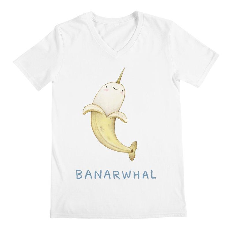 Banarwhal Men's V-Neck by Sophie Corrigan Shop