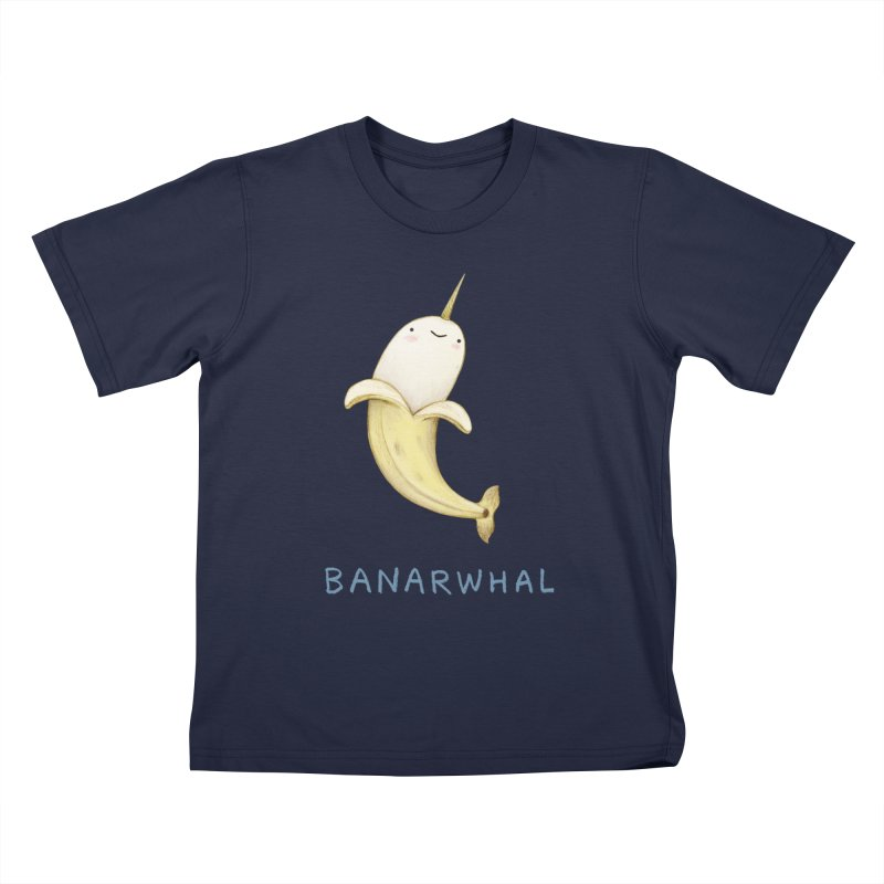 Banarwhal Kids T-Shirt by Sophie Corrigan Shop