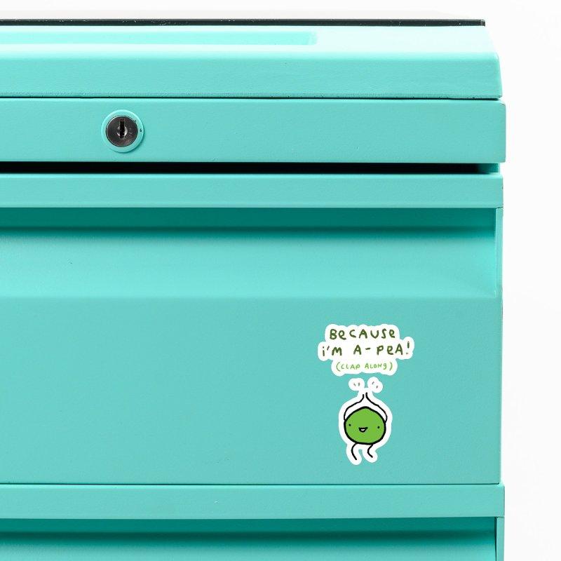 Happy Pea Accessories Magnet by Sophie Corrigan Shop