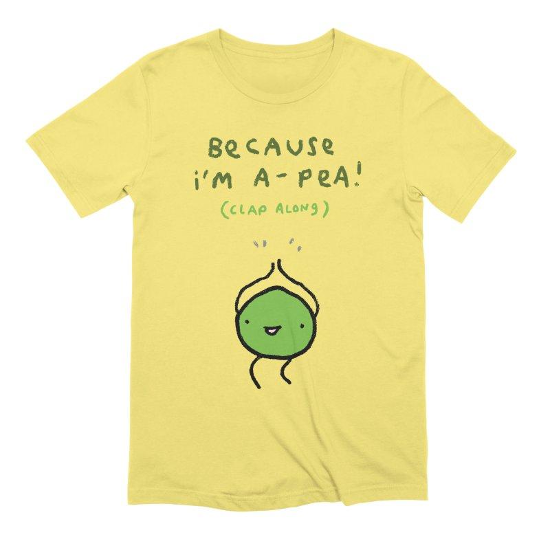 Happy Pea Men's T-Shirt by Sophie Corrigan Shop