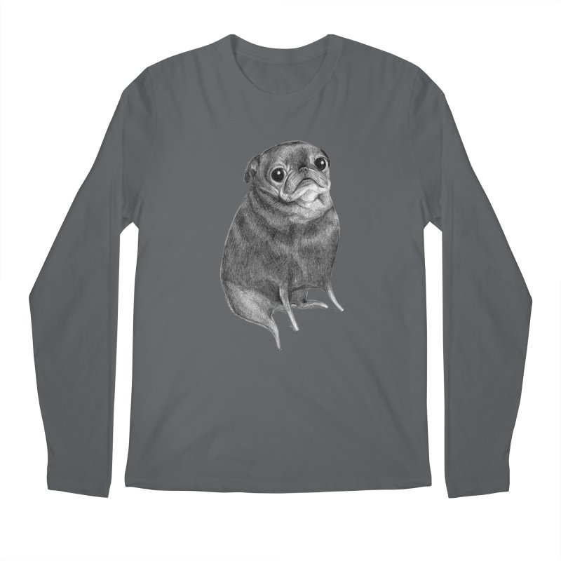 Sweet Black Pug Men's Longsleeve T-Shirt by Sophie Corrigan Shop