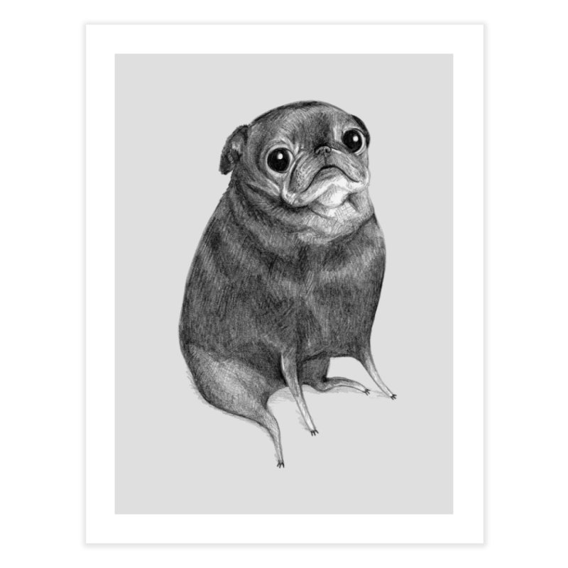 Sweet Black Pug Home Fine Art Print by Sophie Corrigan Shop