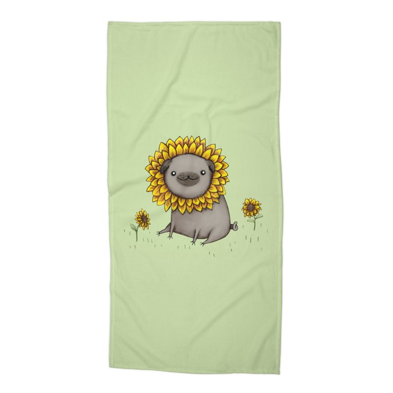 Pugflower Accessories Beach Towel by Sophie Corrigan Shop