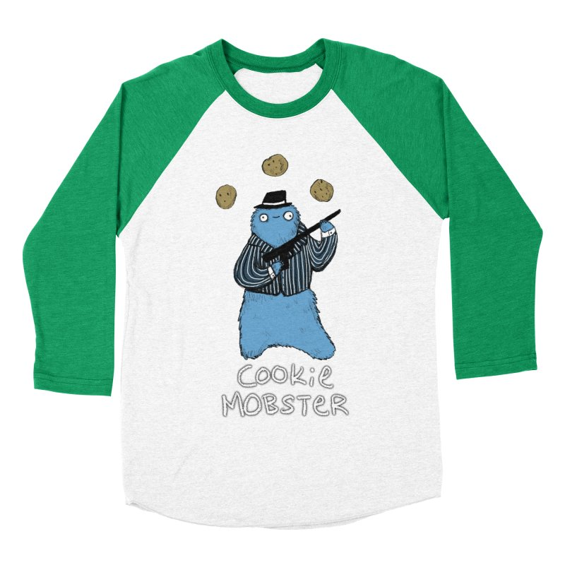 Cookie Mobster Women's Baseball Triblend T-Shirt by Sophie Corrigan's Artist Shop