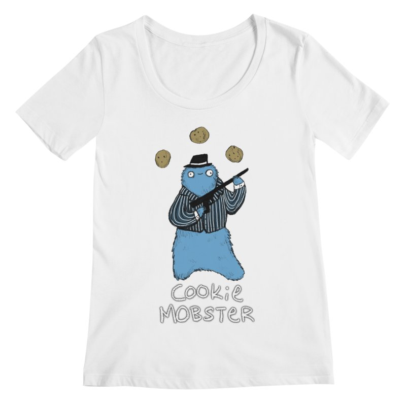 Cookie Mobster Women's Regular Scoop Neck by Sophie Corrigan's Artist Shop