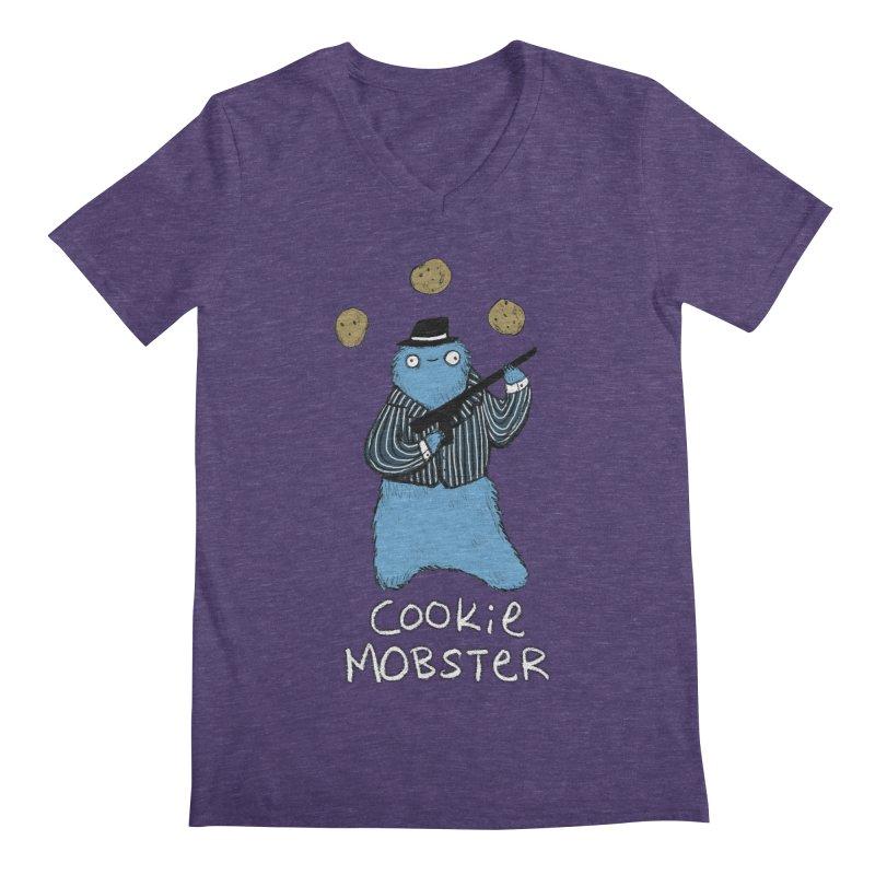 Cookie Mobster Men's Regular V-Neck by Sophie Corrigan's Artist Shop