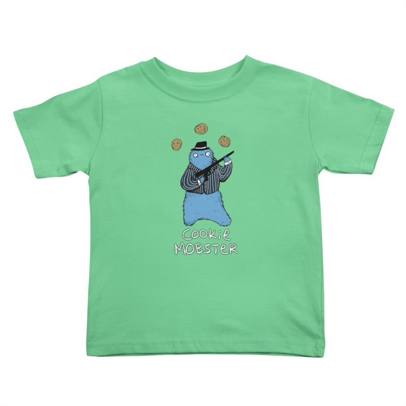 Cookie Mobster Kids Toddler T-Shirt by Sophie Corrigan's Artist Shop