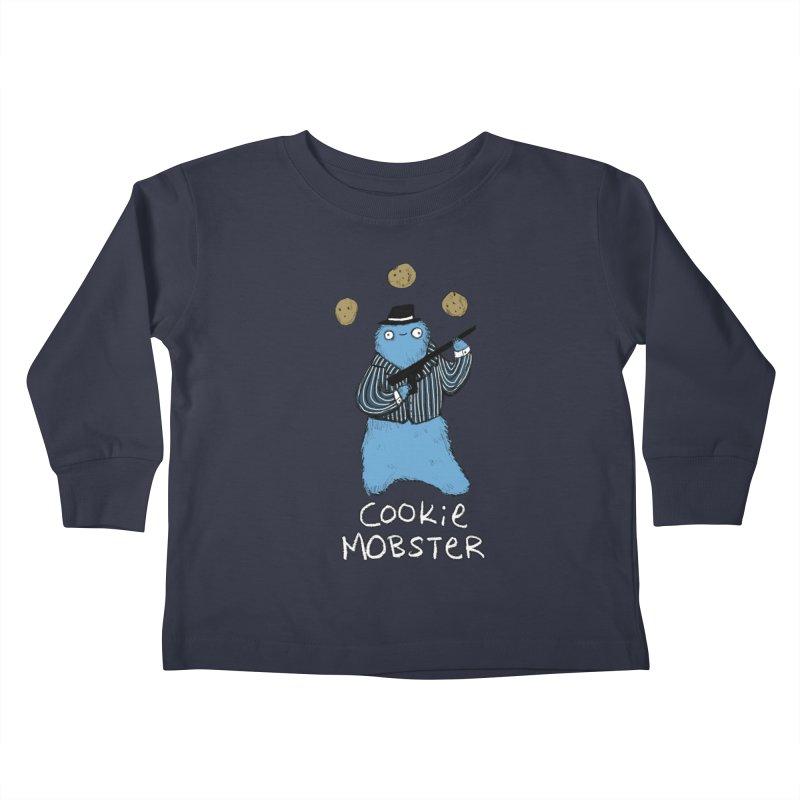 Cookie Mobster Kids Toddler Longsleeve T-Shirt by Sophie Corrigan's Artist Shop