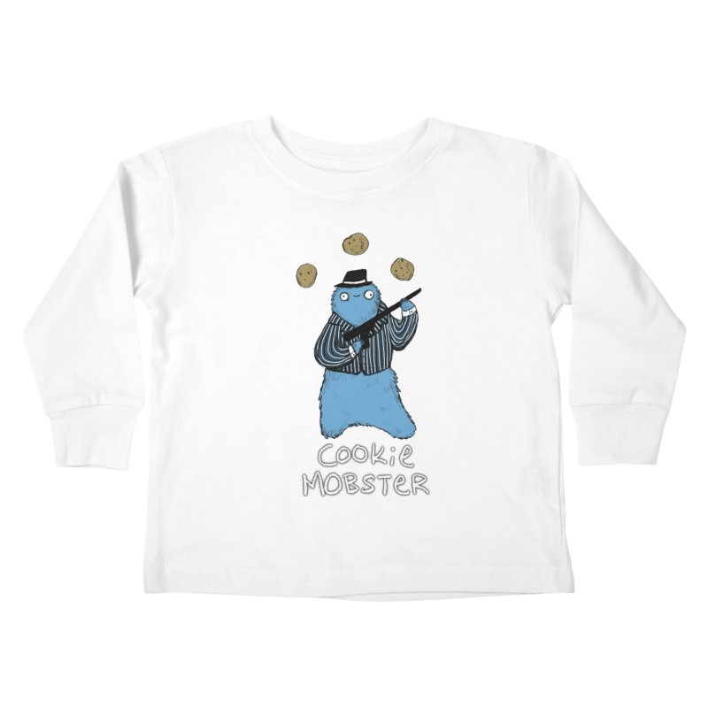 Cookie Mobster Kids Toddler Longsleeve T-Shirt by Sophie Corrigan's Artist Shop