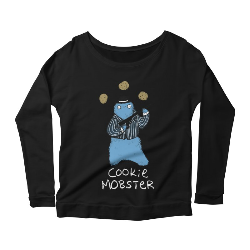 Cookie Mobster Women's Scoop Neck Longsleeve T-Shirt by Sophie Corrigan's Artist Shop