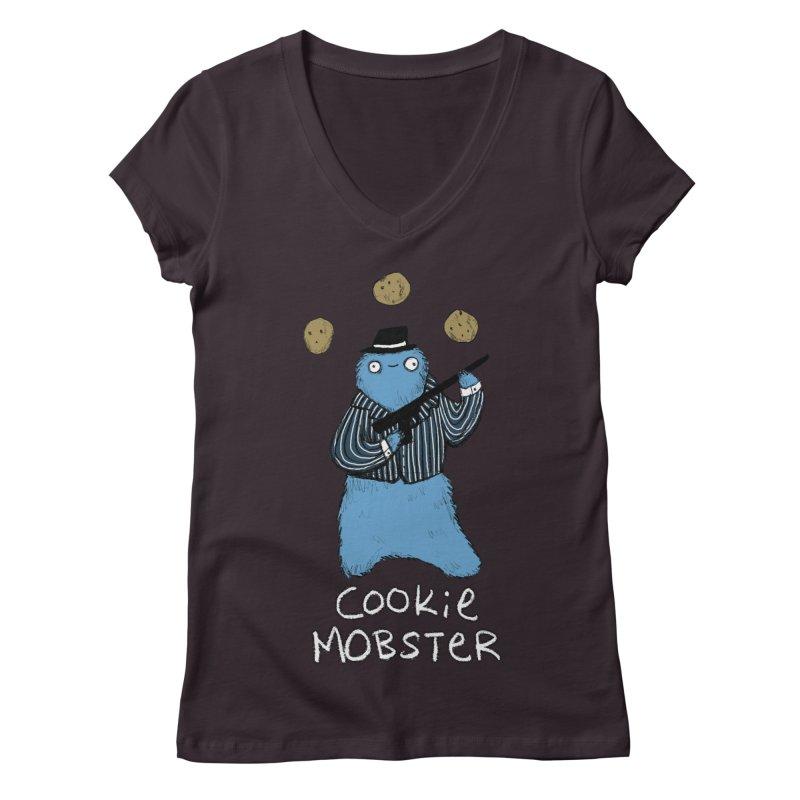 Cookie Mobster Women's V-Neck by Sophie Corrigan's Artist Shop
